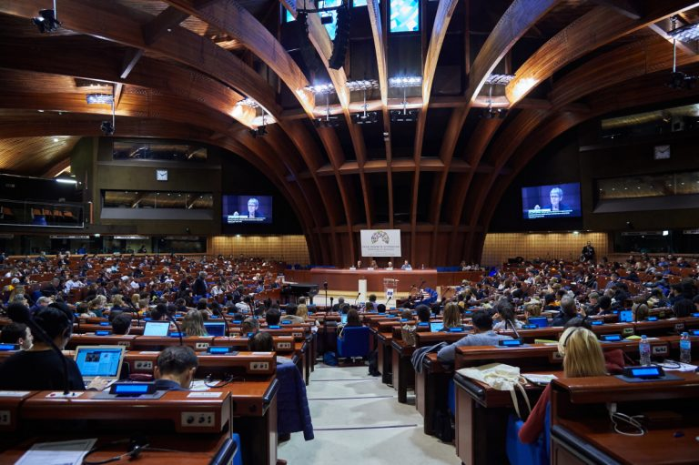 The closing plenary session of the World Forum for Democracy